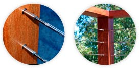 Timber Post Balustrade Cable System